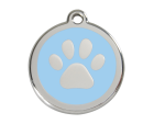 accessoires pour chiens : médaille pour chat bleue