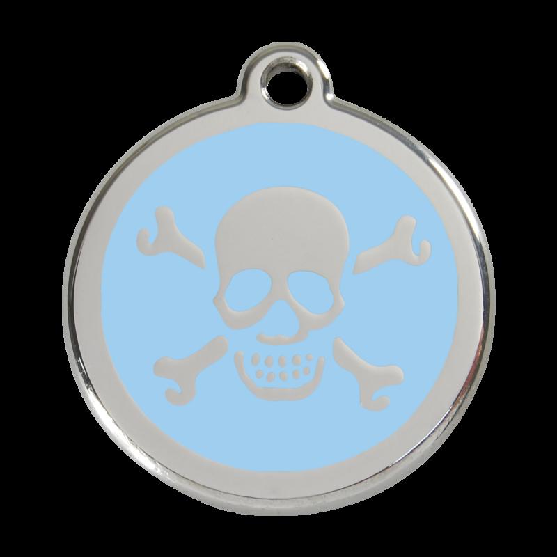 médaille pour chien personnalisable bleue
