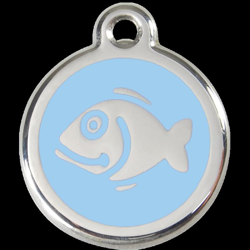 accessoire chat design - médaille bleue à graver